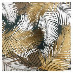 OSTARIA Toile peinte Palmes - Doré - 80 x 80 cm