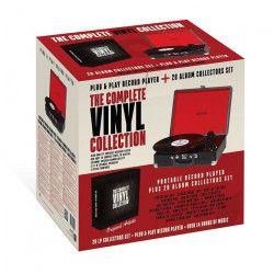 DENVER VPBO2001 Platine vinyle + 20 albums - 3 Vitesses de rotation - 2 haut-parleurs intégrés - Port USB