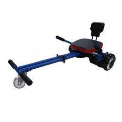 TAAGWAY Kit Kart A3 Siege souple pour Gyropode 6,5`, 8` et 10` - Bleu - Barre centrale double - Charge Max : 120kg