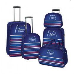 FRANCE BAG - TANTINE ET COMPAGNIE Set de 3 valises + Sac de voyage + Vanity - Marine