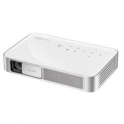 Vivitek Qumi Q38 Blanc - Vidéoprojecteur de poche DLP a LED Full HD - 600 Lumens - Wi-Fi Bluetooth - Entrée HDMI