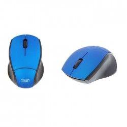 T'nB Souris optique sans fil ultra mini récepteur USB 2,4 GHz - Bleue