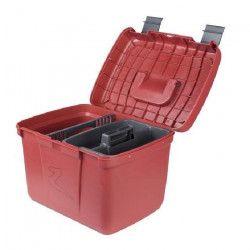 HORZE Coffre de pansage pour chevaux Smart - L 40,8 x P 30 x H 29,5cm - Rouge