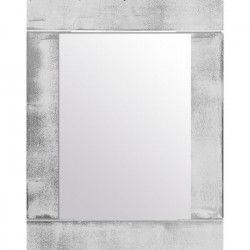 BARI Miroir pin 74x94 cm Argenté et blanc