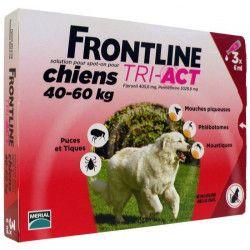 FRONTLINE 3 pipettes Tri-Act - Pour chien de 40 a 60 kg