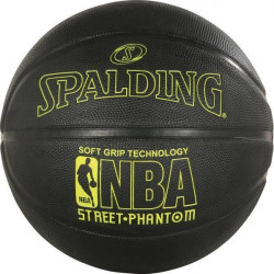 SPALDING Ballon de basket-ball NBA Phantom Sgt - Noir - Taille 7