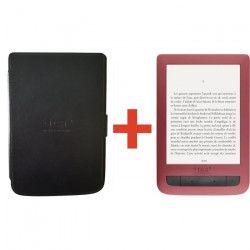 Liseuse numérique Touch Lux 3 TEA - 6 pouces - Rouge + Coque de protection noire offerte