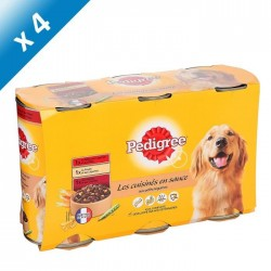 PEDIGREE Les cuisinés en sauce aux petits légumes - 3 x 1,25kg (x4) - Pour chien adulte
