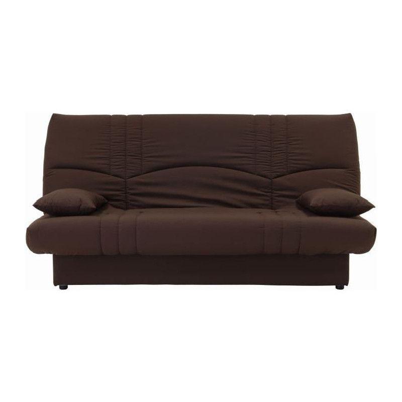 dream banquette clic clac 3 places tissu chocolat. Black Bedroom Furniture Sets. Home Design Ideas