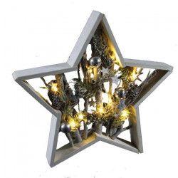Étoile de Noël lumineuse a poser en bois 39x5 cm