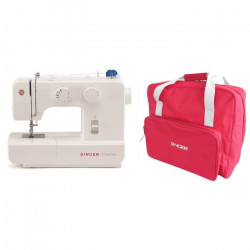 SINGER MC 1409 Machine a coudre - Blanc + Sac de transport - Rouge