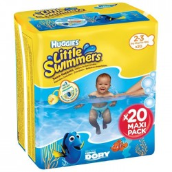 HUGGIES Maxi Pack Little Swimmers - Taille 2-3 - 20 couches - Couches de bain