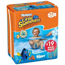 HUGGIES Maxi Pack Little Swimmers - Taille 5/6 - 19 couches - Couches de bain