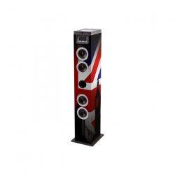 BIGBEN TW12CD Union Jack Tour multimedia CD, BT, AUX, USB, SD, radio decor gb - Rouge