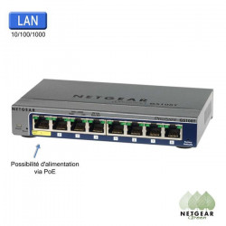 NETGEAR Prosafe GS108T-200GES Switch - Gigabit 8 Ports Smart Manageable