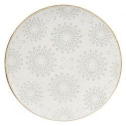 NOVASTYL Mahe 8023222 Lot 6 Assiettes plates 27cm - Creme - Gres