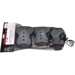 NIJDAM Lot de 3 paires de protections de rollers - Mixte - Taille S