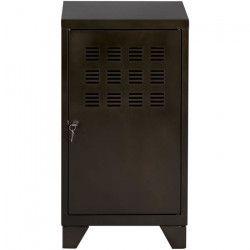 PIERRE HENRY Caisson de bureau CLASS industriel - Métal époxy noir verni - L 46 x H 72 cm