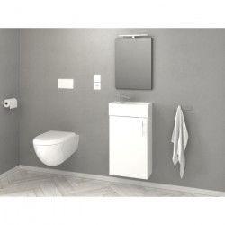 KIM Meuble sous-vasque L 40 cm simple vasque incluse - Blanc mat