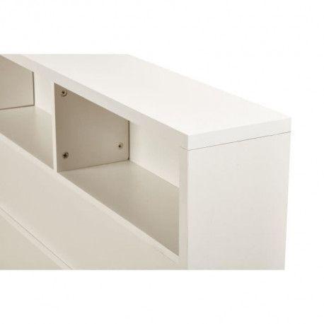 HONFLEUR Tete de lit classique en bois blanc - L 160 cm