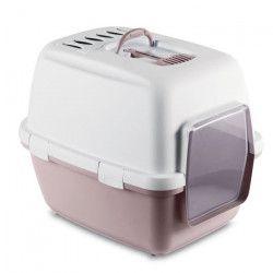 ZOLUX Maison de toilette confort 58 x 45 x 50 cm - Gris rosé - Pour chat