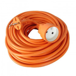 Rallonge électrique de jardin câble HO5VVF 2X1.5mm2 orange 50m