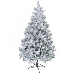Sapin de Noël artificiel Floqué - 565 branches - 180 cm - Blanc