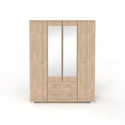 COSMOS Armoire de chambre style contemporain décor chene Brooklyn - L 167 cm