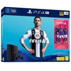 Pack PS4 Pro 1 To Noire + FIFA 19 + 14 jours d`essai PlayStation Plus