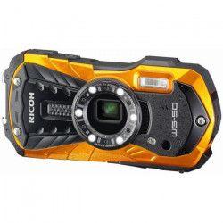 RICOH WG-50O Appareil photo numérique compact - 16,79 Mpx - Etanche jusqu`a 14 m - Zoom 5 X - Orange
