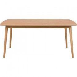 NAGANO Table a manger de 8 a 10 personnes scandinave placage chene huilé - L 180 x l 90 cm