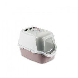ZOLUX Maison de toilette 54 x 29,5 x 39 cm - Gris rosé - Pour chat