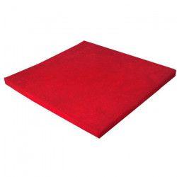 LOOPING Tapis de parc confort en tissu éponge - Epaisseur 5 cm - Dimension : 95 x 95 cm - Rouge