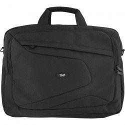 TNB Mallette Ordinateur Portable 15,6 pouces - 2 compartiments + poche extérieure - sangle de voyage - noir