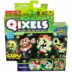 QIXELS Mini Kit 4 Créations Glow In The Dark - Theme Zombies
