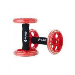 PURE2IMPROVE Roue d`entraînement x2 - Fitness - Rouge