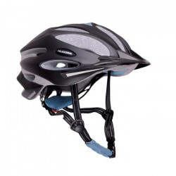 Hudora - Casque de vélo GRANITE - taille 55-58 - Noir/Bleu
