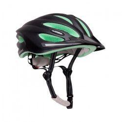 Hudora - Casque de vélo BASALT - taille 49-52 - Noir/Vert