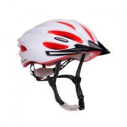 Hudora - Casque de vélo BASALT - taille 56-59 - Blanc/Orange