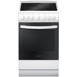 CURTISS PCV560 - Cuisiniere vitrocéramique-4 foyers-Four électrique-67 litres-Classe A-L 50 x H 60 cm-Blanc