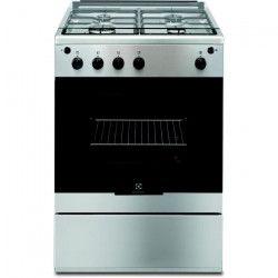 ELECTROLUX EGKG60100VX-Cuisiniere table gaz-4 foyers-Four électrique-Catalyse-59 L-L 60 x H 88,9 cm-Inox
