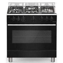 BOMPANI BOMFE85NR - Cuisiniere table gaz-5 foyers-Four électrique-Catalyse-74L-L 80 x H 84 cm-Noir