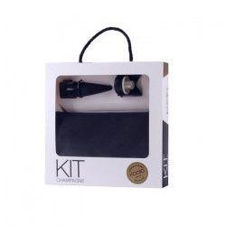 Set Champagne - Ouvre bouteille - Bouchon - Housse rafraichissante