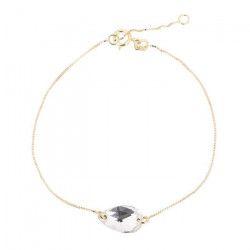 LES BIJOUX D`EMMA CRISTAL - Bracelet en Or et Cristal De Swarovski Coloris Cristal