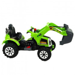 E-ROAD Tracteur éléctique enfant avec grue - Vert