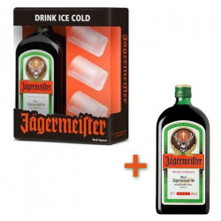 Jagermeister 70cl Coffret 3 verres + 1 bouteille