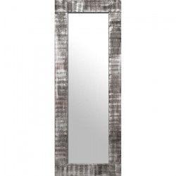 BARI Miroir psyché pin 62x164 cm Marron et argenté