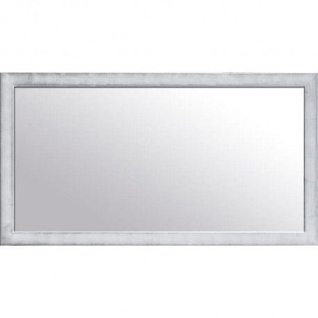 NAPLES Miroir psyché pin 72x132 cm Argenté et blanc