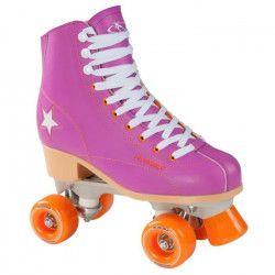 Hudora - Patin a roulettes Disco - taille 36 - Violet/Orange