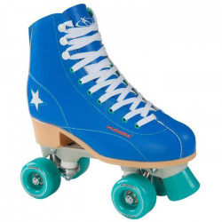 Hudora - Patin a roulettes Disco - taille 36 - Bleu/vert